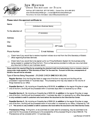 2014-2017 Form OH SOS 523A Fill Online, Printable, Fillable, Blank ...
