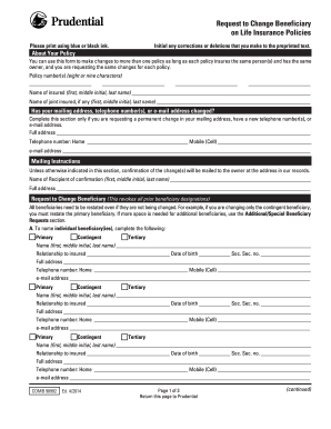 2014 2019 Form Prudential Comb 98992 Fill Online Printable