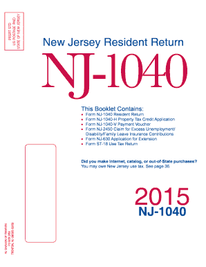 2015-2017 Form NJ NJ-1040 Fill Online, Printable, Fillable, Blank ...