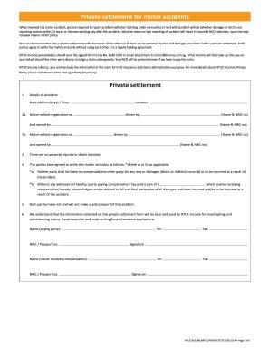 Printable Car Accident Settlement Agreement Letter Edit