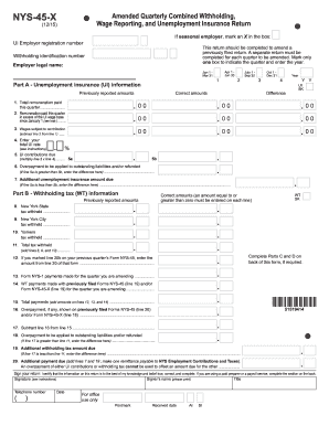 2015-2017 Form NY NYS-45-X Fill Online, Printable, Fillable, Blank ...
