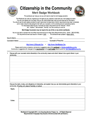 Citizenship Community Merit Badge – Best Badge 2017