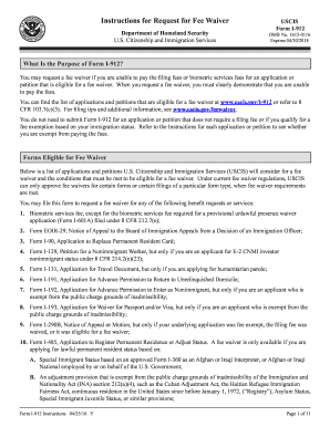 2016 Form USCIS I-912 Instructions Fill Online, Printable ...