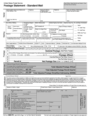 2016 Form USPS PS 3602-R1 Fill Online, Printable, Fillable, Blank ...