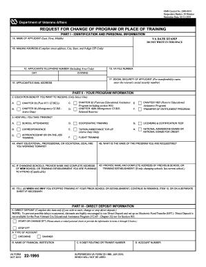 2015 Form VA 22-1995 Fill Online, Printable, Fillable, Blank ...