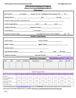 Fillable Online Download an Apartment Registration form