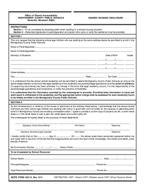 Mcps 2014-2019 Calendar 2014 2019 Form MD MCPS 335 74 Fill Online, Printable, Fillable