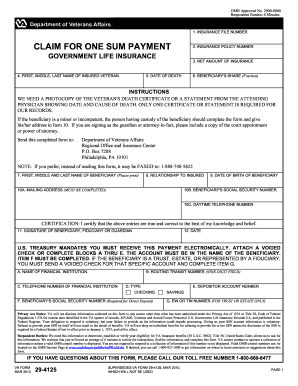2010 Form VA 29-4125 Fill Online, Printable, Fillable ...