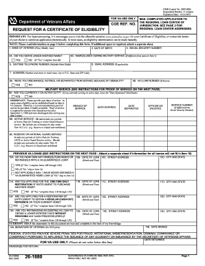 2014-2017 Form VA 26-1880 Fill Online, Printable, Fillable, Blank ...