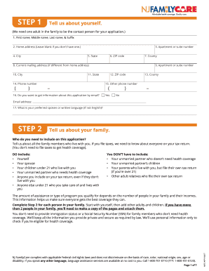 How To Fill Nj Familycare Renewal Application - Fill Online ...