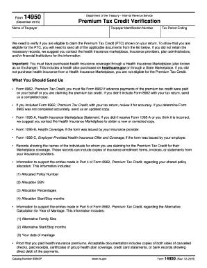 Digital 2017-2018 IRS Form 14950 in PDF