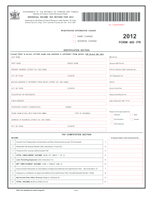 2012-2017 Form Form 400 ITR Fill Online, Printable, Fillable ...