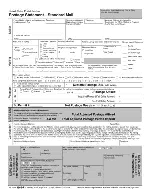 Fillable Online PS Form 3602-R PDF - USPS.com Fax Email Print ...