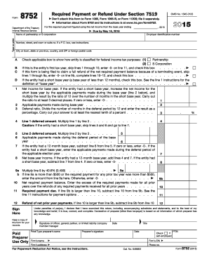 2015 Form IRS 8752 Fill Online, Printable, Fillable, Blank - PDFfiller