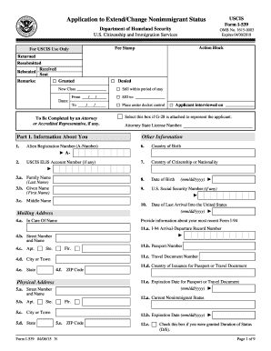 2015-2017 Form USCIS I-539 Fill Online, Printable, Fillable, Blank ...