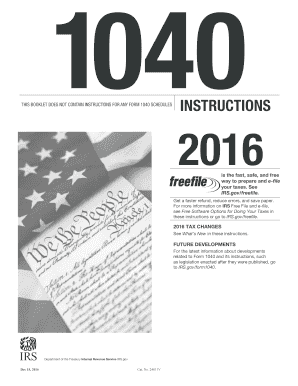 Editable 1040 instructions 2015 booklet - Fill, Print