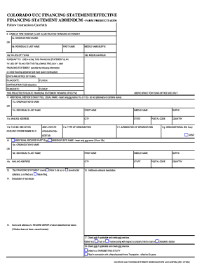 Colorado Ucc Financing Statement Form - Fill Online, Printable ...