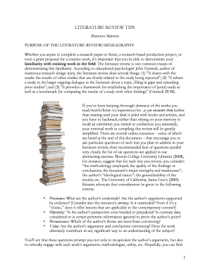 what is literature review and its importance