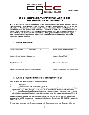 Printables Fafsa Independent Verification Worksheet fillable online form iv5ws 2013 14 independent verification fill online