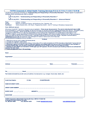 Registration Form - TATRA Corporate and Allied Health Training ...