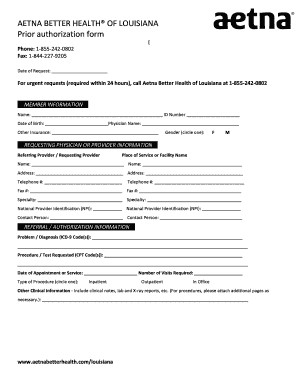 Aetna Mltc Referral Forms - Fill Online, Printable, Fillable ...