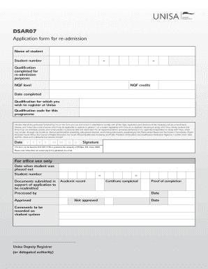 Unisa online registration dates in Melbourne