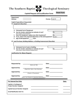 Capital expenditure form fill online printable for Capital expenditure justification template