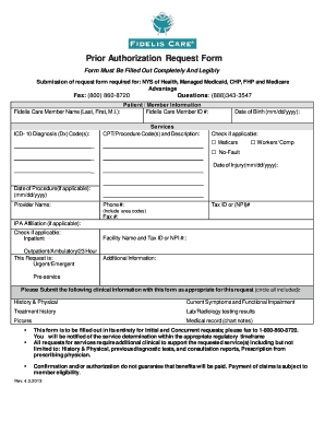 Fidelis Managed Medicaid Prior Authorization Form For Inpatient