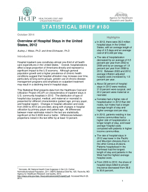 Overview of Hospital Stays in the United States, 2012 - HCUP - hcup-us ahrq