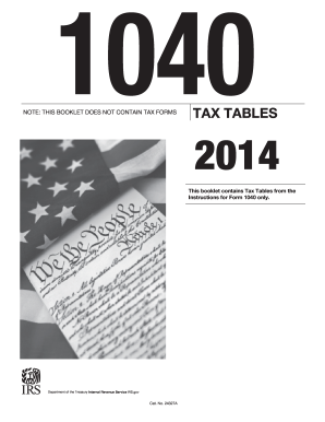 2014 Tax Tables - Fill Online, Printable, Fillable, Blank ...