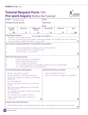 Pre Work Inquiry Form Examples - Fill Online, Printable, Fillable ...
