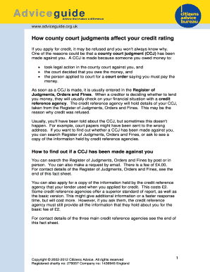 sample letter to credit bureau to remove judgement   Edit Online