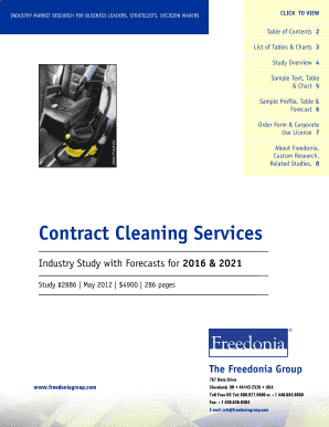 Contract Cleaning Services - The Freedonia Group
