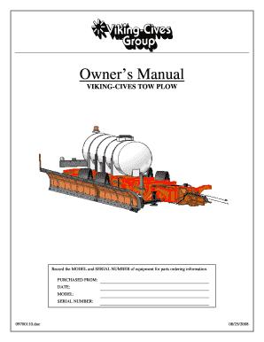 Tow Plow Manual - Fill Online, Printable, Fillable, Blank | PDFfillerPDFfiller