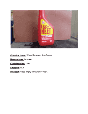 Iso-Heet water remover/anti-freeze
