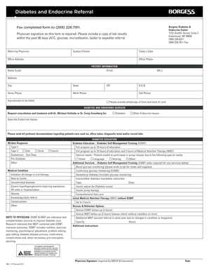 Center for Diabetes Care Referral Form