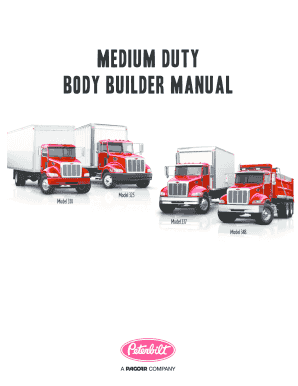 fillable online medium duty body builder manual peterbilt fax rh pdffiller com peterbilt 220 body builder manual peterbilt 567 body builder manual