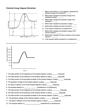 Fillable Online Potential Energy Diagram Worksheet Fax Email Print ...