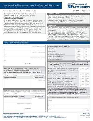 Fillable Online qls com QLS Form 4 (LPR) Version 6 - Law Practice ...