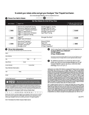 Prepaid Citi Com Goodyearrebates >> Fillable Online Rebate Form - Sullivan Tire Fax Email Print - PDFfiller