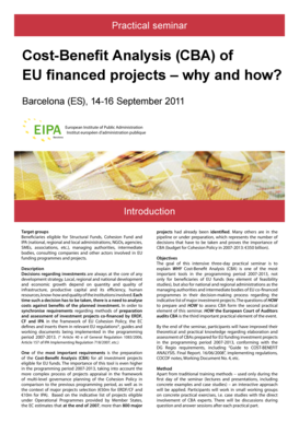 Cost-Benefit Analysis - European Institute of Public Administration
