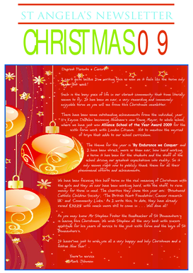 Download our Christmas 2009 Newsletter - St Angelas - stangelas fluencycms co