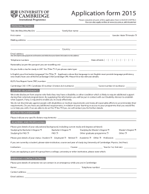 Fillable Online Please complete all parts of this application form ...