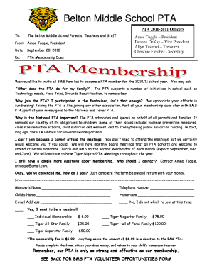 Fillable pta welcome speech - Edit Online, Print & Download Forms in