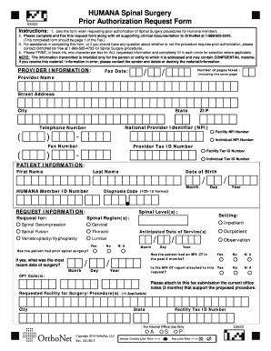 19 Printable humana forms prior authorization Templates