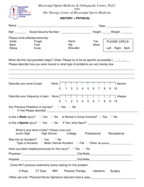 sports physical form mississippi  Fillable Online Mississippi Sports Medicine & Orthopaedic ...