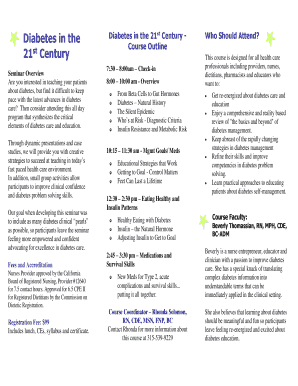 Course Registration Form & Brochure - Diabetes Educational Services