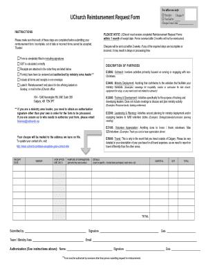 Fillable Reimbursement Request Form Download Budget Bussiness