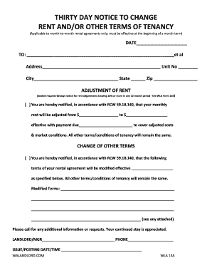 10 printable month to month rental agreement 30 day notice forms and