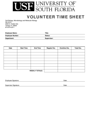 student volunteer time sheet Forms and Templates - Fillable ...
